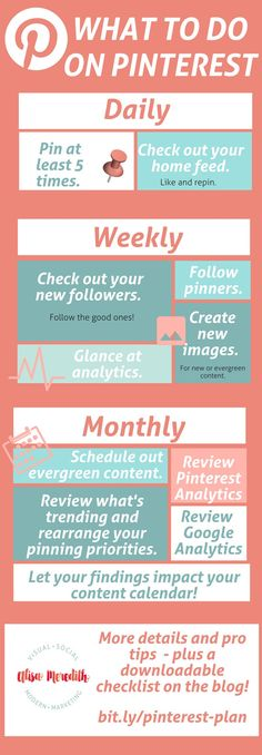 Exactly what to do on Pinterest daily, weekly, and monthly for ultimate Pinterest marketing success! via @alisammeredith For the best and most affordable website builder try our 7 day FREE trial en then deside http://builderall.hostinsa.com