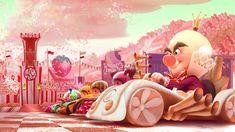 Wreck-It Ralph: 100 Original Concept Art Collection - Daily Art, Movie Art Art Disney, Disney Concept Art, Disney Magic, Disney Wiki, Wreck It Ralph, Owl City, Sugar Rush, Candyland, Storyboard
