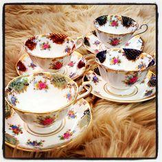 Royal Albert Empress Series vintage china tea cup and saucers