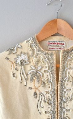 1950s beaded cardigan:
