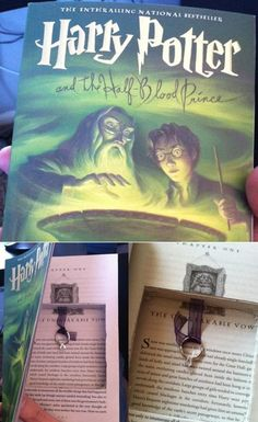 Harry Potter proposal. THIS. And I love that its cut to the chapter named the unbreakable vow! But afterwards I would be like you cut up Harry potter!!!!!!!