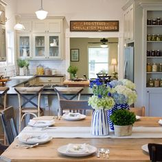 Really stoked that Erin and Ben used a couple of our prints in their first HGTV Hometown build. Hgtv Kitchens, Country Kitchens, Farmhouse Kitchens, Warren House, Home Town Hgtv, Erin Napier, English Decor, Farmhouse Decor, Craftsman Farmhouse