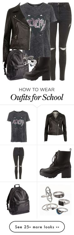 """jesy insp - school"" by littlemixmakeup on Polyvore featuring Topshop, River Island, Charlotte Russe and Mudd"