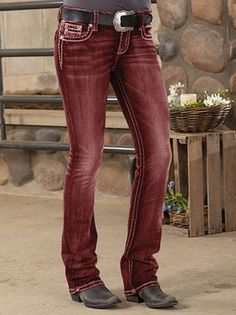 Retro Einfarbige Hosen mit Taschen Vintage Pants, Red S, Pocket, Clothes, Collection, Fashion, One Color, Trousers, Taschen