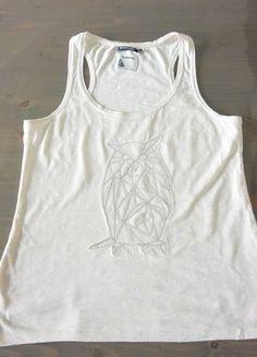 À vendre sur #vintedfrance ! http://www.vinted.fr/mode-femmes/debardeurs/30006871-debardeur-blanc-motif-hibou