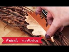 Cricut Crafts - DIY Fall Leaves Wreath | Michaels & Creativebug - YouTube