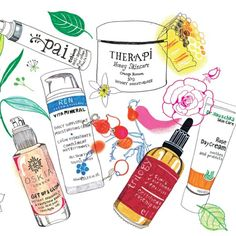 The Green Edit: free-from products for allergy-prone skin | Illustrations: Hennie Haworth