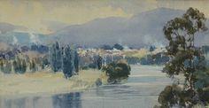 Derwent River, Tasmania. 1944, Harold Brocklebank Herbert
