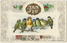 Tammy Tutterow Viintage Image   With Best New Year Wishes