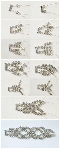 #Beebeecraft ideas of making #faceted #glassbeads #bracelet