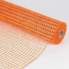Orange - Floral Oasis Mesh Wrap - ( 21 Inch x 10 Yards )