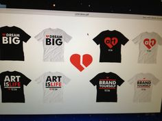 Concepts of #loveart t-shirts