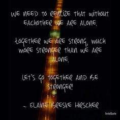 Together we are...