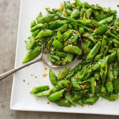 Sugar Snap Peas with Almonds, Coriander, and Orange Zest Cook's Illustrated (July 2016)