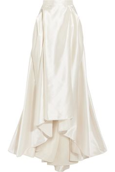 Halfpenny London - Georgie Pleated Satin Maxi Skirt - Ivory - UK14