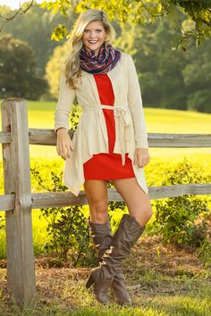 Fit To Be Tied Cardigan-Tan - All Tops | The Red Dress Boutique