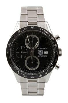 Tag Heuer Men's Carrera Chronograph Stainless Steel Watch on HauteLook