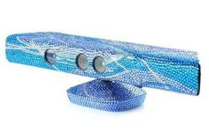 Xbox 360 Kinect blinged out w/ blues!