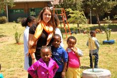 Ever since a high school trip to Zambia to repair dor­mi­to­ries, Danielle Fontaine, who has a combined major in psychology and American Sign Language, has been searching for a chance to return to Africa. So when she got a co-​​op with Selam Children's Vil­lage, an orphanage and school in Addis Ababa, Ethiopia, Fontaine just knew she had to go.