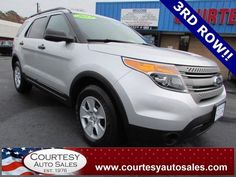 2013 FORD EXPLORER -- SUPER CLEAN With ONLY 44,000 MILES! -- 3rd ROW! -- CLEAN CAR-FAX! -- Price INCLUDES A 3 MONTH/3,000 Mile WARRANTY! -- CALL TODAY! * 757-424-6404 * FINANCING AVAILABLE! -- Courtesy Auto Sales SPECIALIZES In Providing You With The BEST PRICE On A USED CAR, TRUCK or SUV! -- Get APPROVED TODAY @ courtesyautosales.com * Proudly Serving Your USED CAR NEEDS In Chesapeake, Virginia Beach, Norfolk, Portsmouth, Suffolk, Hampton Roads, Richmond, And ALL Of  Virginia SINCE 1976!