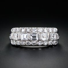 Art Deco Diamond Band Wedding Ring from the 30's