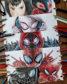 Spiderman into the spiderverse Marvel Vs, Marvel Memes, Marvel Dc Comics, Spiderman Art, Amazing Spiderman, Spiderman Images, Spiderman Drawing, Marvel Drawings, Spider Verse
