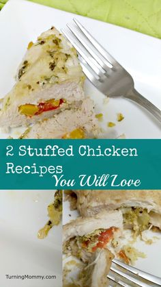 Really easy, quick, kid friendly, yummy Stuffed Chicken Recipes you can make for dinner or lunch. They look amazing and make a tasty healthy homemade meal.