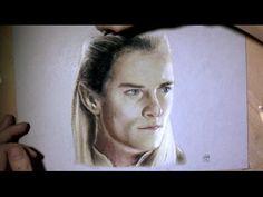 Dessin réaliste : Portrait de Legolas (Hobbit)