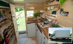Adam Croft and partner Nikki Pepperell convert a VAN into their flat of dreams | Daily Mail Online