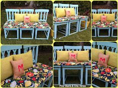 Make your own outdoor seating! I would chop the backs off though and put it outside under the window on patio.