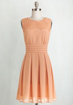 V.I.Pleased Dress in Peach From the Plus Size Fashion Community at www.VintageandCurvy.com