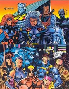 The early X-Men Blue & Gold teams - Jim Lee Marvel Comics Art, Marvel Comic Universe, Comics Universe, Marvel Dc Comics, Marvel Heroes, Ms Marvel, Captain Marvel, Comic Book Characters, Comic Book Heroes