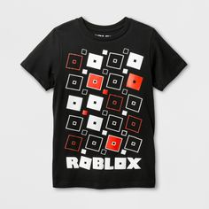 516401286083a Boys  ROBLOX Short Sleeve T-Shirt - Black XL