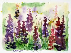 An easy watercolor card to paint...