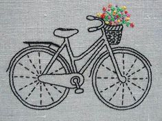 #bici #bicicleta #canasto #flores