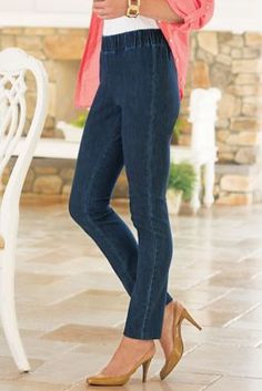 Metro Leggings from Soft Surroundings...a great place for plus size fashions
