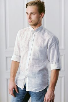 KOIRE men shirt, 100% linen, 100% handmade www.koireshop.com