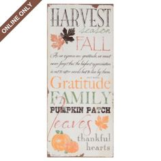 $19.99 Harvest Season Canvas Art Print | Kirkland's