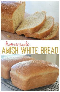 bread recipes This recipe for homemade Amish white bread yields 2 loaves of perfectly soft white bread. Perfect for sandwiches, toast, or eating fresh from the oven with butter. It has been a family favorite for years! Amish Bread Recipes, Sandwich Bread Recipes, Baking Recipes, Homemade Sandwich Bread, Amish Sweet Bread Recipe, Bread Recipes For Oven, White Bread Recipes, Starter Recipes, Dutch Recipes