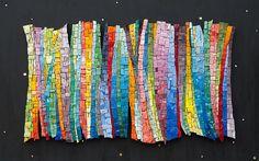 Aurora Borealis, beautiful smalti mosaic