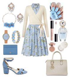 """""""Burch Blue"""" by colesumler on Polyvore featuring French Connection, Miss Selfridge, GUESS, Steve Madden, Sole Society, Marc Jacobs, lilah b., Skagen, 1st & Gorgeous by Carolee and Tory Burch"""