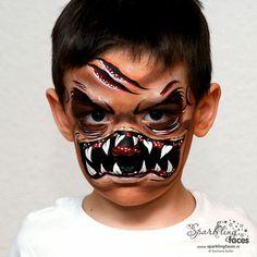 Halloween Men, Toddler Halloween Costumes, Halloween Makeup Looks, Halloween Nails, Male Makeup, Sfx Makeup, Costume Makeup, Monster Face Painting, Face Painting Designs