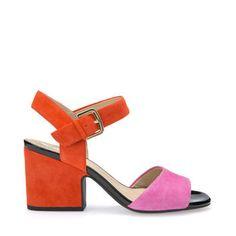 Retrouvez les sandales à talons Marilyse pour femme en orange. Achetez sur Geox.com. Retour gratuit!