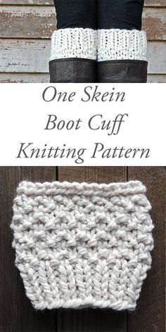 Boot Cuffs Archives - Brome Fields One Skein Boot Cuff Knitting Pattern : Respect by Brome Fields Crochet Boot Cuff Pattern, Knitted Boot Cuffs, Crochet Boots, Knit Boots, Boot Toppers, Beginner Knitting Patterns, Knitting Projects, Knitting Loom Socks, Leder Boots