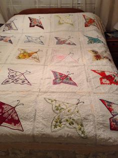 Butterfly Hanky Quilt | OSuzyQuilts, Free-motion Quilting and ...