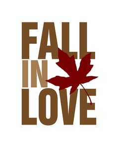 "Previous Pinner said, and I definitely agree:  ""Fall in Love.........I LOVE THIS!!!!!!!!"""