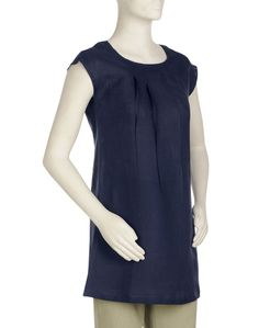 Fab India Womens Cotton Linen Pleated Boat Neck Tunic  http://www.fabindia.com/clothes-for-women/womens-tunics-kurtas/womens-cotton-linen-pleated-boat-neck-tunic-blue-6982.html#