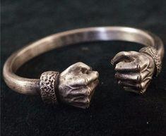 """ACROW ~ """"Power Fist"""" Silver Bracelet #men'sjewelry"""