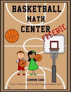 March Madness is coming!  Basketball Math Center Fun-FREEBIE Teaching Math, Kindergarten Math, Elementary Schools, Teaching Resources, Teaching Ideas, 1st Grade Math, Third Grade, Basketball Shoes, Basketball Humor