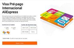Cartão Visa Pré-pago Internacional AliExpress